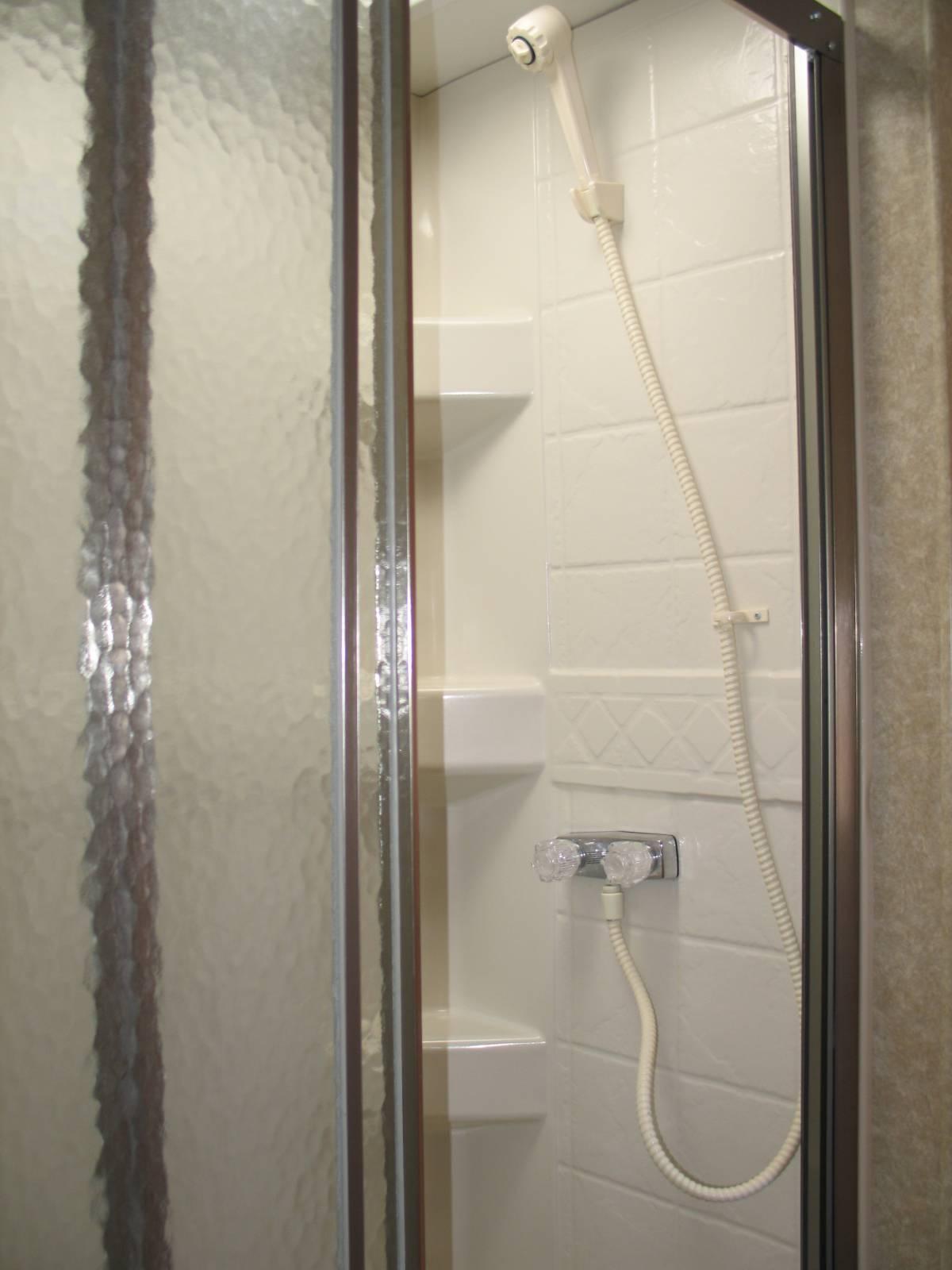 fixing door a doors leaky rv youtube glass shower watch